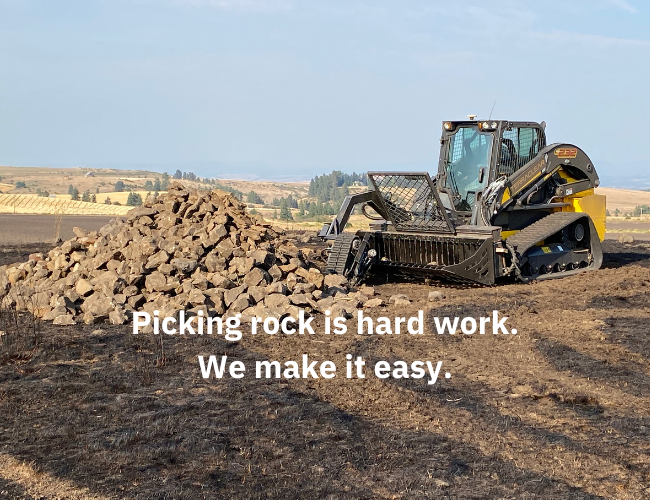 Rock picking is hard work. TerraClear makes it easy
